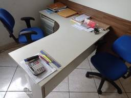 """Mesas semi novas para escritório, todas em """"L"""""""