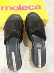 Sandália moleca de salto tamanho 37
