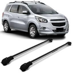 Travessa de Teto Chevrolet Spin Projecar Prata ou Preta - Fácil instalação