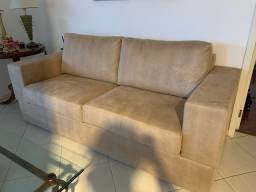 Par de sofá cor caramelo