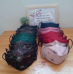 Máscara 3D duplo tecudo algodão R$5 cada