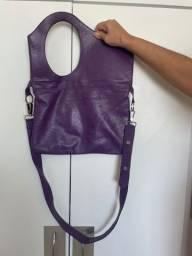 Título do anúncio: Vendo bolsa em couro nova