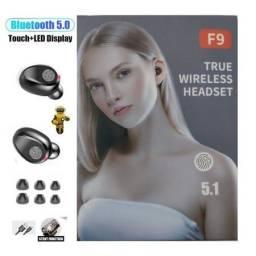 Fone de Ouvido F9 TWS Bluetooth 5.0 Preto
