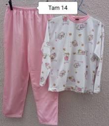 Pijama feminino peluciado novo Tam 14