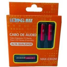 Cabo de áudio(fone+mic)