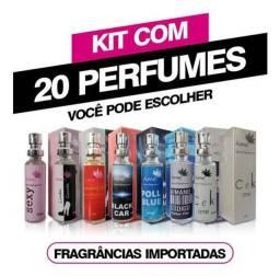 KIT 20 PERFUMES DE 17ml AMEI COSMÉTICOS