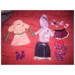 kit roupas e acessórios boneca barbie