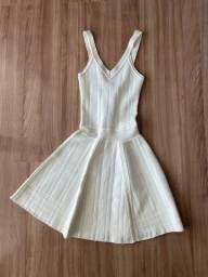 Vestido off white bandagem
