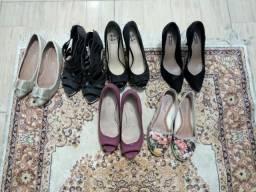 Sapatos e sapatilhas número 36, por 15 reais