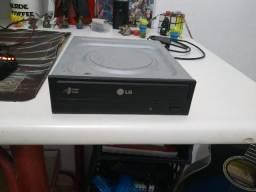 Leitor e Gravador de CD/DVD - LG + Cabos SATA