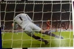 Foto Chelsea autografada pelo Cech Final da Uefa Champions League 2012 x Bayer de Munique