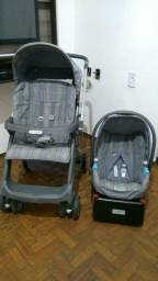 Carrinho Burigotto com bebê conforto e base