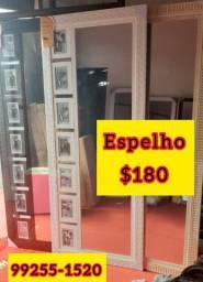 Espelho com porta retrato novo $180
