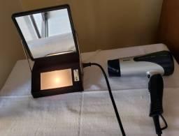 Espelho com luminaria para maquiagem