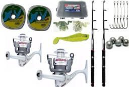 Kit de Pesca Completo Molinete Jimmy Marine Sports + Vara Telescópica comprar usado  Araucária