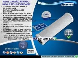 """Refil de Carvão Ativado 9""""3/4 e 10"""" - Entrega e Troca Grátis"""