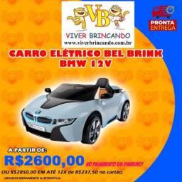 Carro Elétrico Bel Brink esporte bmw I8 concept 12V controle remoto