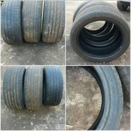 Vendo troca 3 pneus 205 40 17 usado