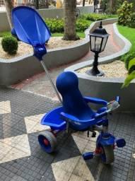 Triciclo Smart Comfort Bandeirantes Azul usado