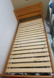 Cama madeira solteiro  tokstok