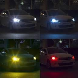 Lâmpada de led colorida controle remoto para carro e motos