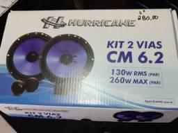 """Kit 2 vias 6"""" hurricane novo com garantia instalado em seu carro"""