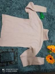 blusas em tecido de lã, gola alta, tamanho m, super conservadas