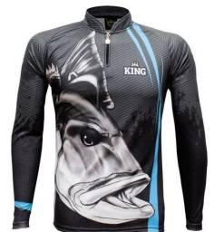 Camisa de pesca com proteção UV Tamanho M