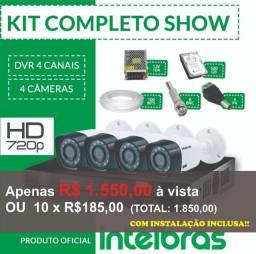Promoção Kit Cftv Intelbras com acesso remoto pelo seu celular