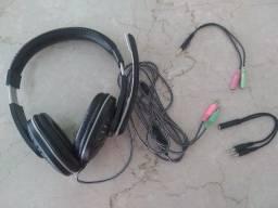 Headphone Brigth Home + 2 adaptadores P2/P3