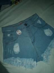 Shorts jeans na etiqueta