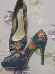 Sapato meia pata florido