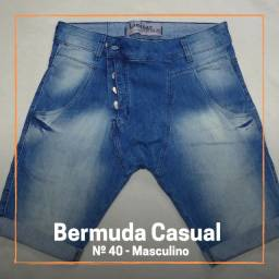 Bermuda Jeans Saruel Masculina - Liminar Premium