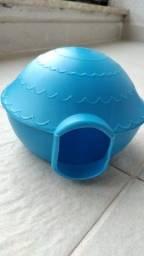 Casinha/toquinha para hamster azul