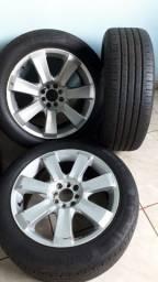 Rodas aro 17 com pneu  do Peugeot 308