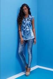 Calça Feminina Malha Denim All Jarreau Jeans