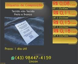 Título do anúncio: Etiqueta de roupas composição