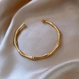 Bracelete Modelo Bambu Ajustável Delicado Minimalista