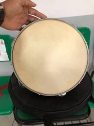 Pandeiro 10 Cajon Brasil Pele De Couro Psi-1091