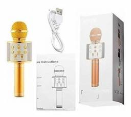 Microfone Karaokê Bluetooth NOVO!
