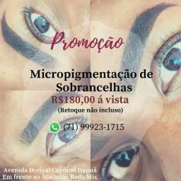 Promoção Micropigmentação de sobrancelhas
