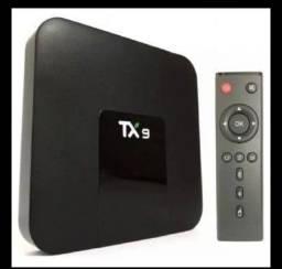 Tv Box Androide Tx9 Padrão 4k 32gb Preto Com Memória Ram 3gb