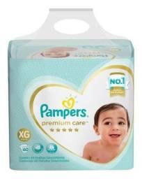 Fralda Pampers Premium Care Jumbo Tamanho Xg 60 Unidades