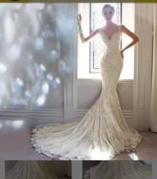 Vestido noiva sereia (novo)