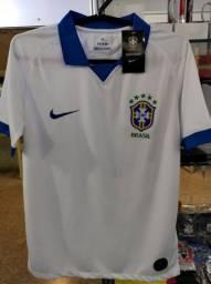 Camisa seleção brasileira polo branca