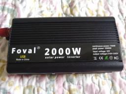 Inversor de energia 24v para 220v potência de pico 2000w
