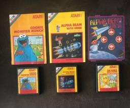 Lote Jogos Atari Cookie, Alpha e Birds!