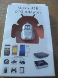 Adaptador Micro USB OTG Pendrive p/ celular Android
