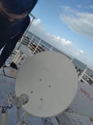 Antenas cabo e receptor