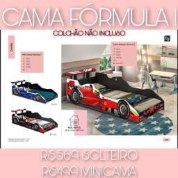 cama carro formula 1